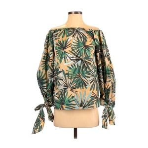 Paul's Ka Long Sleeve Tropical Print Top